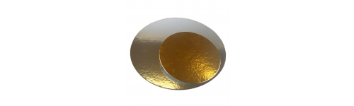 Gold / Silver Round Cake Card (1.1mm thick)
