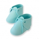 Edible Cake Topper Baby Bootees Blue