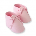 Edible Cake Topper Baby Bootees Pink