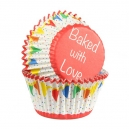 Baked with Love Foil Lined Baking Case Bunting Primary / 25