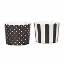 Baking Cups Mini Black and White / 12