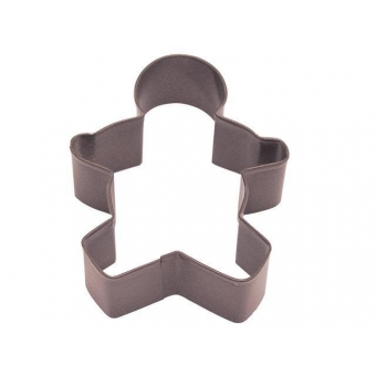 Large Gingerbread Man Cookie Cutter Brown, 13 cm
