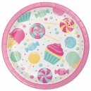 "Candy Bouquet 7"" Dinner Plates / 8"