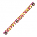 Masha and The Bear Happy Birthday Die-Cut Banner