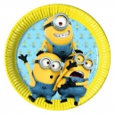 "Lovely Minions 9"" Paper Plates / 8"