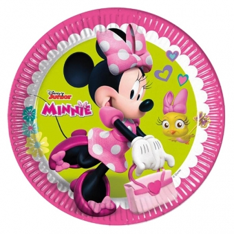 Minnie Happy Helpers - 23 cm papptaldrikud, 8 tk