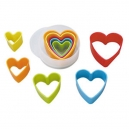 Multi-Coloured Heart Cutter Set / 5