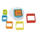 Multi-Coloured Square Cutter Set / 5