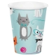 Purrfect Party Paper Cups / 8