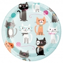 "Purrfect Party 7"" Dinner Plates / 8"