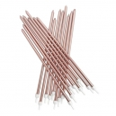 Extra Tall Candles Metallic Rose Gold With Holders 18 cm / 16