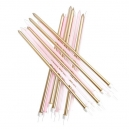 Extra Tall Candles Metallic Gold and Pastel Pink With Holders 18 cm / 16
