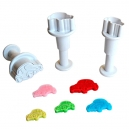 Cars - Mini Plunger Cutter Set / 3