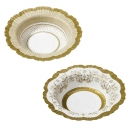 Party Porcelain Gold Bowls / 12