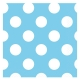 Powder Blue Polka Dot Beverage Napkins 2 ply / 16