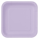 """Hot Pink 7x7"""" Paper Plates / 16"""