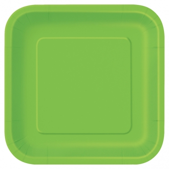 "Lime Green 9x9"" Paper Plates / 14"