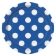 "Royal Blue Dots 7"" Paper Plates / 8"