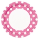 "Hot Pink Dots 9"" Paper Plates / 8"