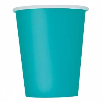 Caribbean Teal Paper Cups 266ml / 14