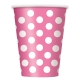 Hot Pink Polka Dots Paper Cups 355ml / 6