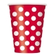 Ruby Red Polka Dots Paper Cups 355ml / 6