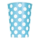 Powder Blue Polka Dots Paper Cups 355ml / 6