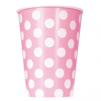 Lovely Pink Polka Dots Paper Cups 355ml / 6