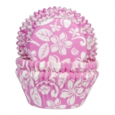 Aloha Pink Flowers Baking Cases / 50