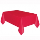 Red Basic Plastic Tablecover, 137x274cm
