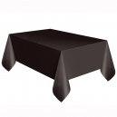 Black Basic Plastic Tablecover, 137x274cm