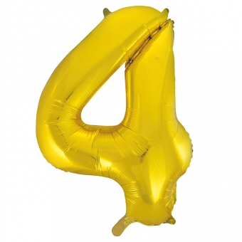 Number 4 Gold Foil Balloon, 86cm
