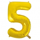 Number 5 Gold Foil Balloon, 86cm