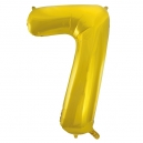 Number 7 Gold Foil Balloon, 86cm