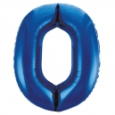 Number 0 Blue Foil Balloon, 86cm