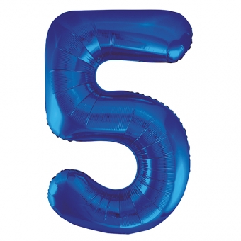 Number 5 Blue Foil Balloon, 86cm