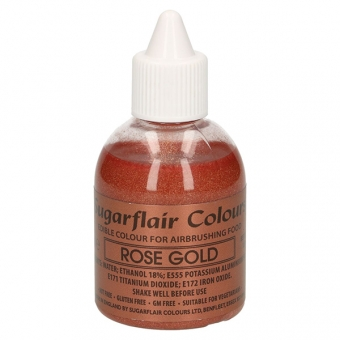 Sugarflair Airbrush Liquid Colouring Rose Gold, 60 ml