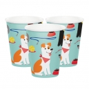 Dog Party Paper Cups / 8