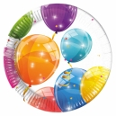 """Sparkling Balloons 7"""" Paper Plates / 8"""