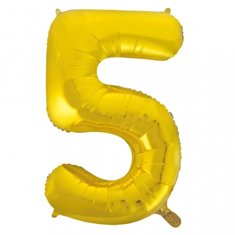 Number 5 Gold Foil Balloon, 33cm