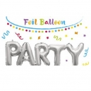Party Foil Balloons (Silver)