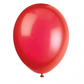 Scarlet Red Latex Balloons / 10 CT