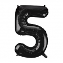 Number 5 Black Foil Balloon, 86cm