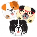 Dog Party Dinner Plates / 8