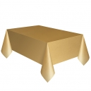"""Gold Plastic Tablecover, 54"""" x 108"""""""
