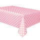 "Lovely Pink Dots Plastic Tablecover, 54"" x 108"""