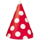 Ruby Red Dots Party Hats / 8