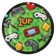 """Gaming Party 7"""" Dinner Plates / 8"""