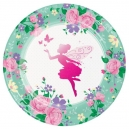 "Floral Fairy  -  9"" Sparkling Dinner Plates / 8"