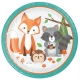 "Woodland Animals  -  9"" Sparkling Dinner Plates / 8"